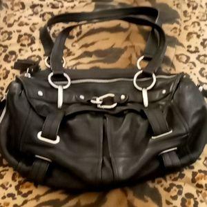 Real leather shoulder bag